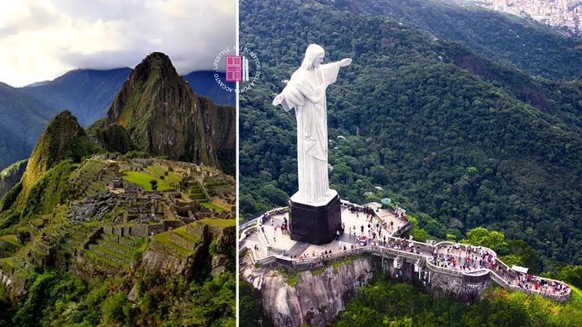 Il Machu Picchu e il Cristo Redentore