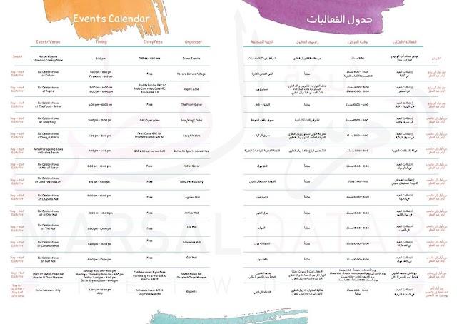 تعرف على مواقع وجدول فعاليات مهرجان صيف #قطر