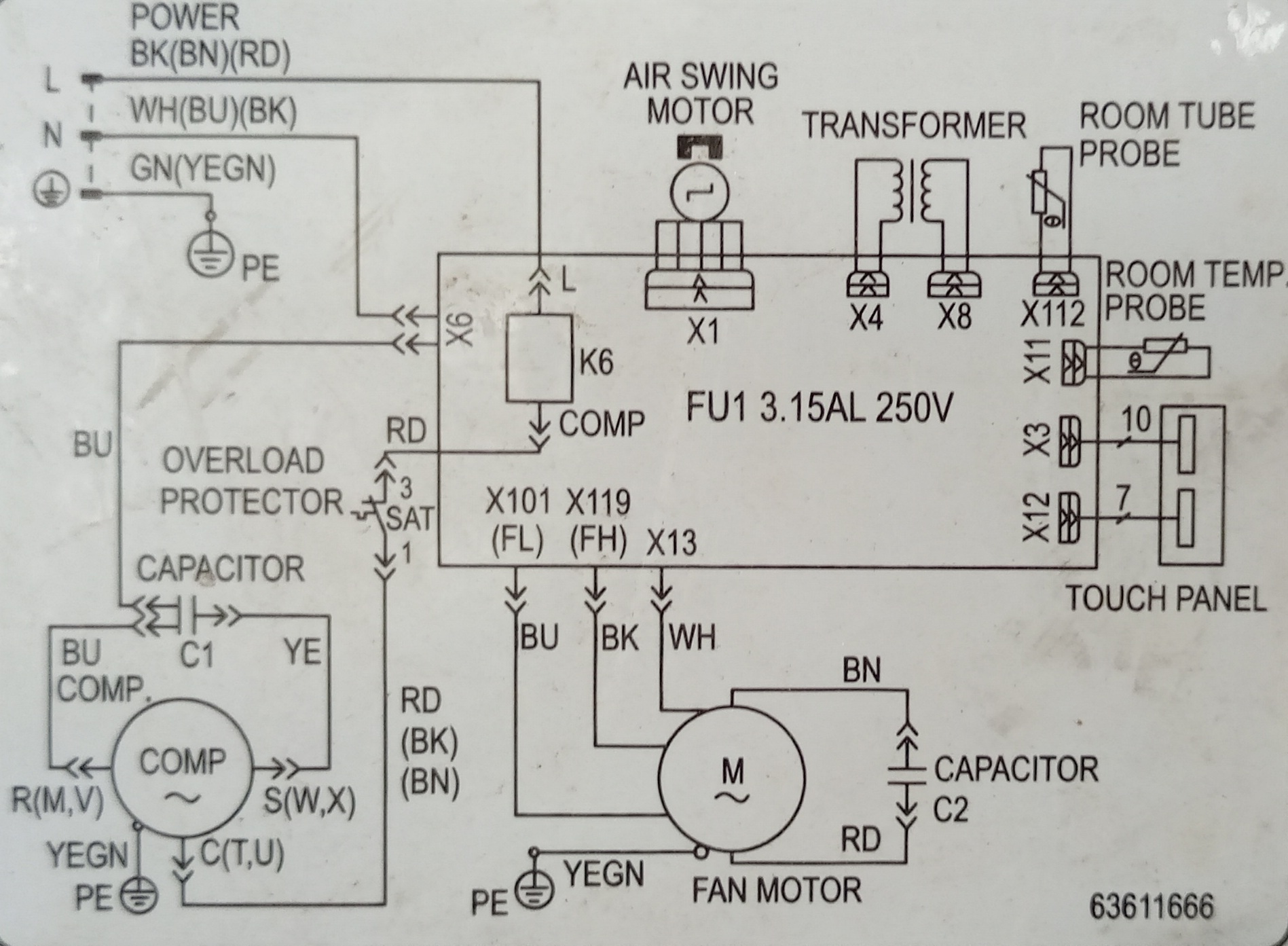 Window AC PCB Wiring Diagram | Electrical Wiring Diagrams Platform | Window Aircon Wiring Diagram |  | Electrical Wiring Diagrams Platform
