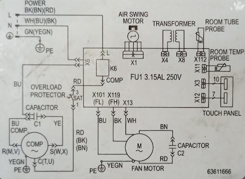 window ac pcb wiring diagram