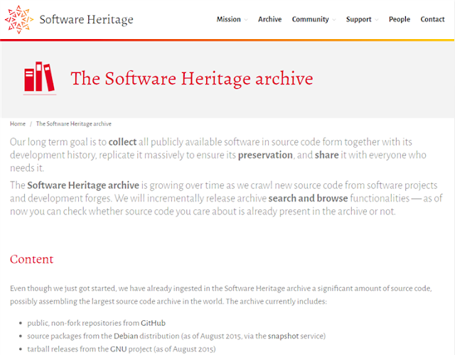The Software Heritage archive