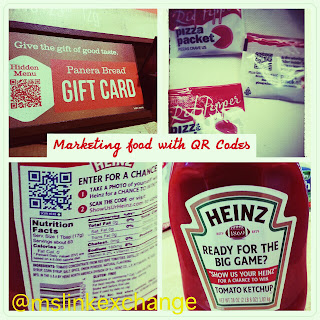 Panera Bread, Heinz Ketchup and Donatos uses QR Codes for marketing