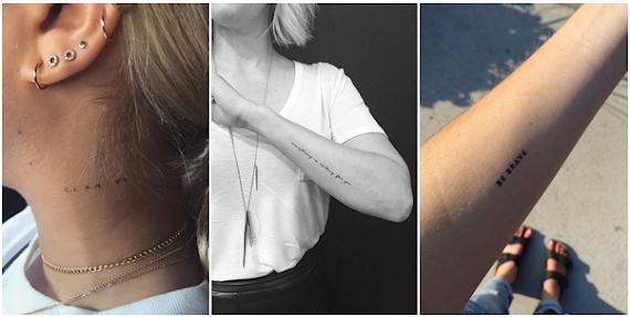 Melhor Lugares Do Corpo Para Tatuar Frases