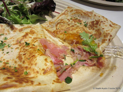 Crepe Crazy South Lamar -- prosciutto and apricot jam crepe