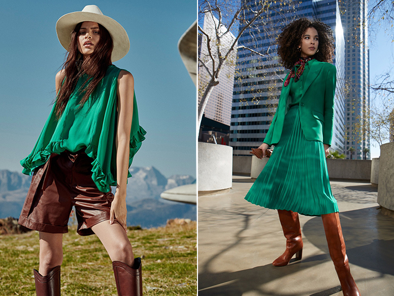 Зеленый цвет в одежде: с чем носить и с какими цветами сочетается