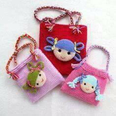 Crochet dolls Handbags