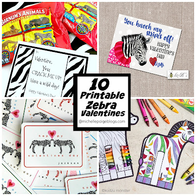 10 Printable Zebra Valentines @michellepaigeblogs.com