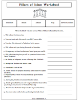 Pillars of Islam Worksheet
