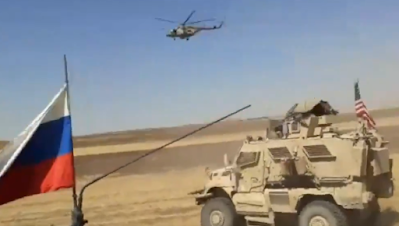 Russian military convoy in northeastern Syria