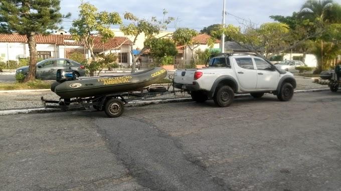 Operação de fiscalização do defeso na Laguna Araruama resulta em apreensões e duas pessoas detidas