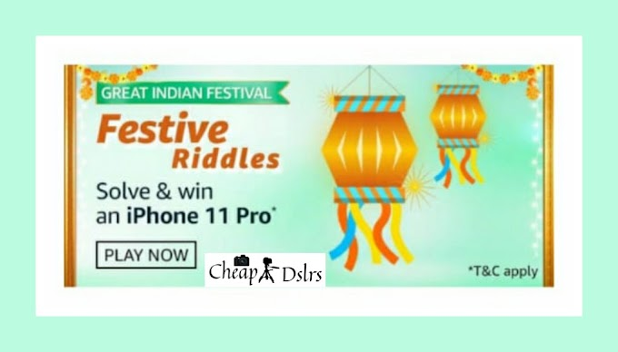 Amazon Festive Riddles Quiz Answers Great Indian Festival Win – IPhone 11 Pro