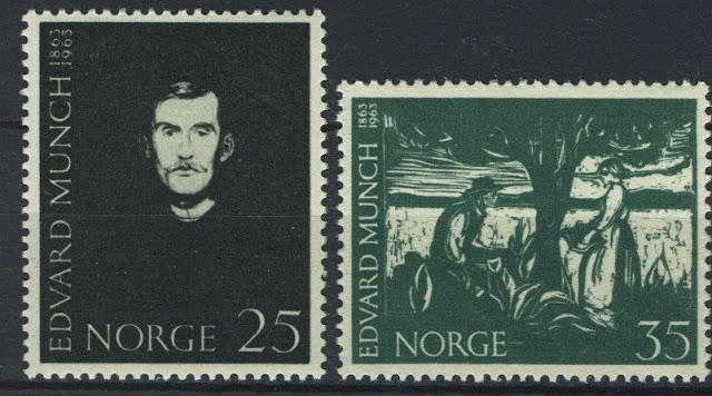 Norway 1963, Paintings by Edvard Munch set