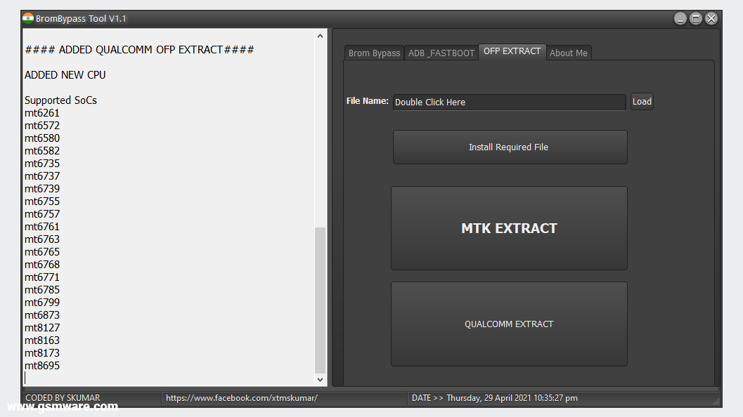 MTK Brom Bypass Tool V1.1 By Skumar