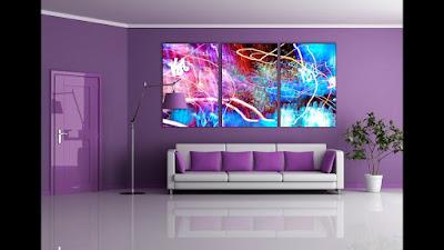 Purple Wall Decor Ideas