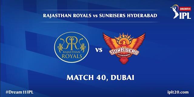 IPL 2020 MATCH 40- सनराइजर्स हैदराबाद ने राजस्थान रॉयल्स को 8 विकेट से हराया, अंकतालिका देखें