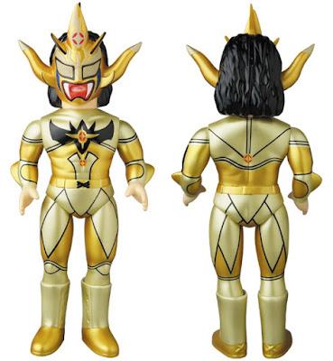 Jushin Thunder Liger Gold Edition Sofubi Fighting Series Vinyl Figure by Medicom Toy