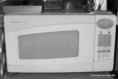 Sarah's microwave | featured on www.BakingInATornado.com