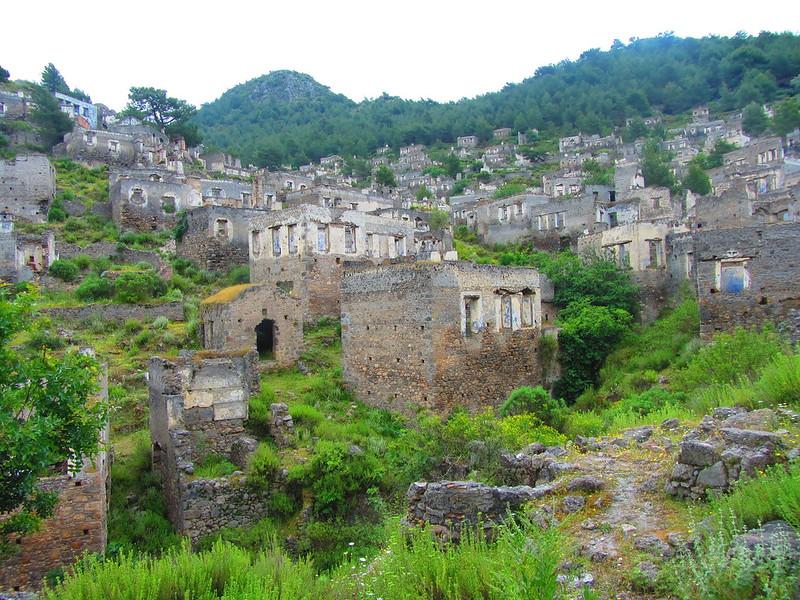 kayakoy village turkey, abandoned places in turkey, fethiye to kayakoy,
