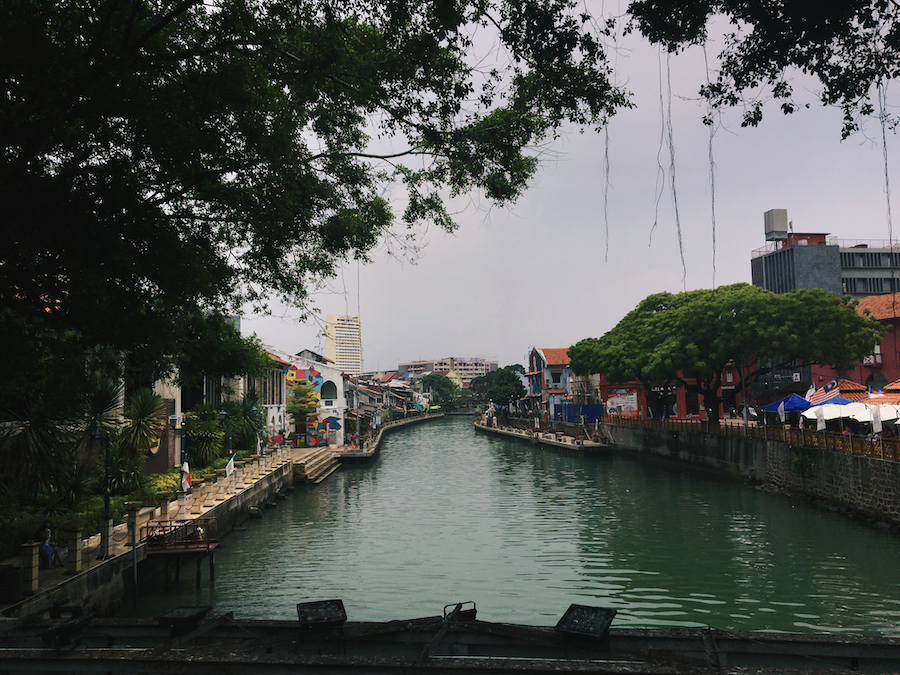 The river dividing Malacca