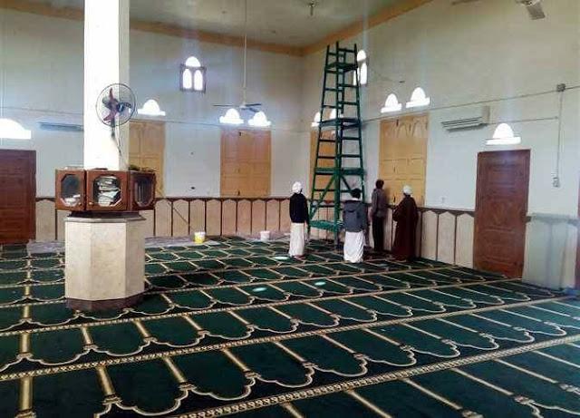 صور لمسجد الروضة قبل ساعات من إعادة افتتاحه اليوم الجمعة، 1 ديسمبر 2017