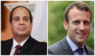 الرئيس الفرنسي ماكرون يستقبل الرئيس السيسىي فى 24 أكتوبر الجارى