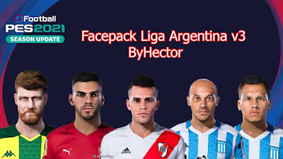 PES 2021 Facepack Superliga Argentina V3 by Hector