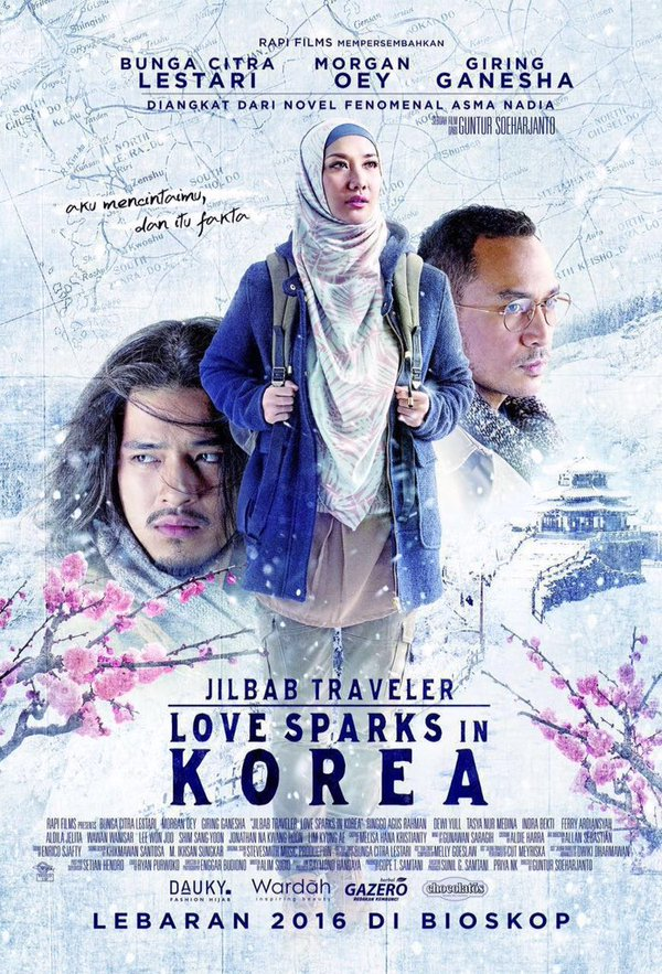 Jilbab Traveler: Love Sparks in Korea 2016 full movie