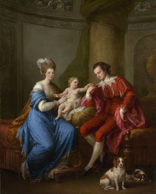 Edward Smith Stanley, 12th Earl of Derby, with his wife,  Lady Elizabeth Hamilton, and their son Edward  by Angelica Kauffmann (c1776)  Public domain image from Metropolitan Museum of Art