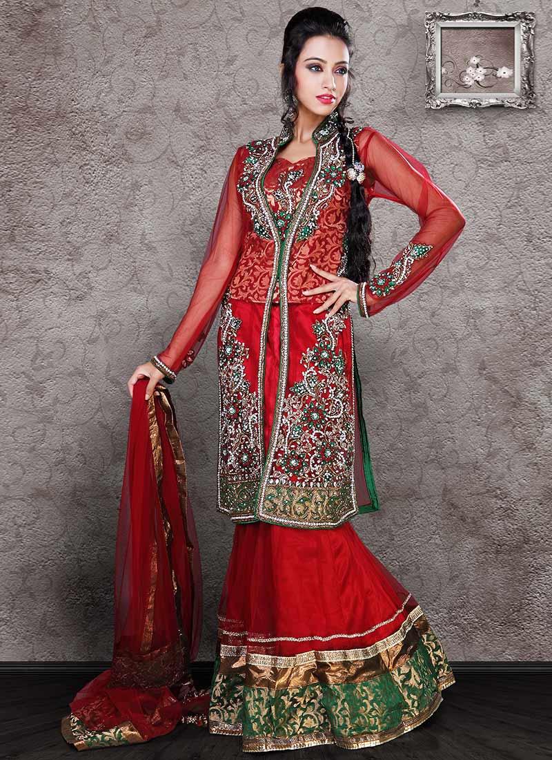 Indian Bridal Lehenga Choli 2017 Embroidered Designs For