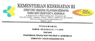 Lowongan Kerja Non PNS RSUP H Adam Malik