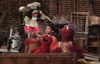 Jean the Genie, Elmo, Telly. Sesame Street Elmo's Magic Cookbook