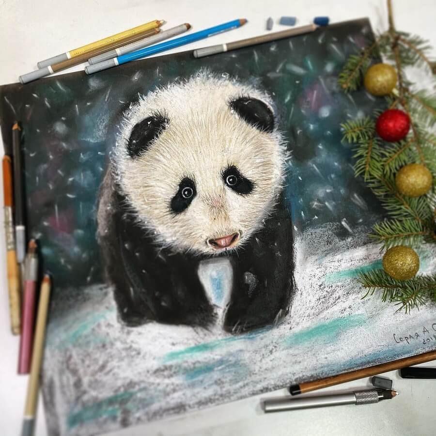 05-Panda-in-the-snow-Анастасия-Серая-www-designstack-co