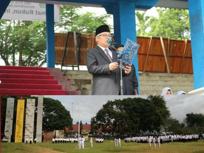 Wabup Ami Taher Pimpin Upacara HAB ke-74 Kemenag Kerinci