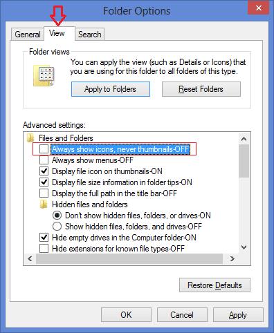 Khắc phục lỗi máy tính không hiện hình ảnh thu nhỏ Thumbnail