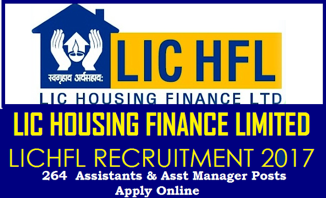 LIC HFL Recruitment Notification 2017 for 264 Vacancies of Assistants & Asst Manager Posts Apply Online @lichousing.com Life Insurance Corporation of India Housing Finance Limited inviting Online Applications from Eligible Inidan candidates for Assistants and Assistant Manager Posts. Important dates How to Apply Qualifications Eligibility Criterea Scheme of Examination Selection Procedure Syllabus Online Examination and Interview based Selection for the Recruitment Notification LIC Recruitment 2017 Assistants and Assistant Manager Posts all over the India Online Applications are invited from eligible candidates who must be an Indian Citizen for selection and appointment as Assistant/Assistant Manager lic-hfl-housing-finance-limited-recruitment-notification-2017-assistant-manager-vacancies-apply-online-lichousing.com-register /2017/08/lic-hfl-housing-finance-limited-recruitment-notification-2017-assistant-manager-vacancies-apply-online-lichousing.com-register.html