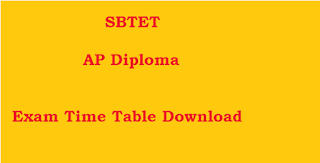 ap diploma time table download