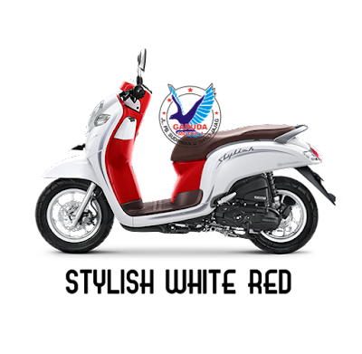 warna scoopy terbaru 2019 stylish white red (merah putih)