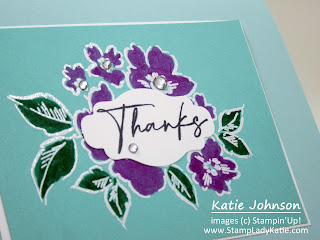Card made with Hand-Penned Petals, from the new Stampin'Up! 2021-2022 Annual Catalog