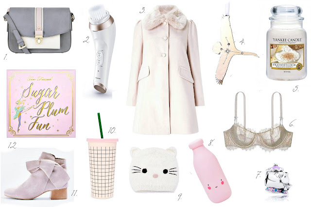 Girly pink Christmas blog wishlist
