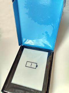 Kindle dentro a caixa