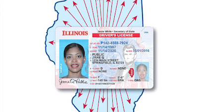 Sample photo of Illinois Real ID compliant driver's license