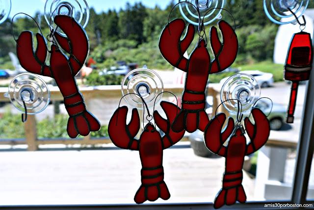 Decoración Temática Langostas en Land's End Gift Shop en Bailey Island, Maine