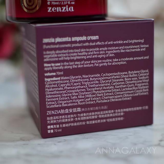 Состав Крем для лица с плацентой Zenzia Placenta Ampoule Cream