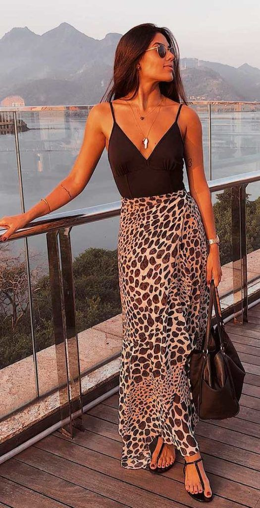 Looks de verão com animal print