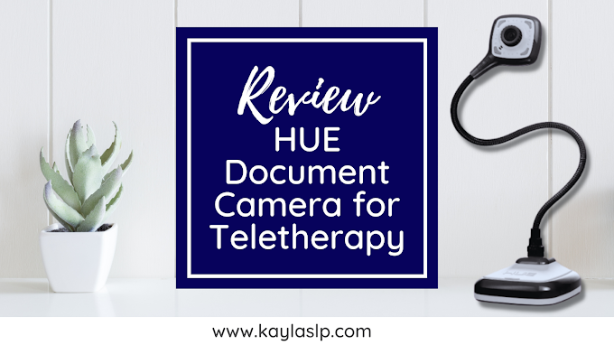 Review: HUE Document Camera for Teletherapy