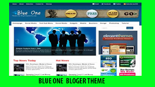 Blue One Responsive Seo Friendly - Responsive Blogger Template