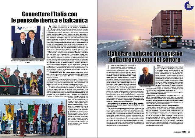 MAGGIO 2019 PAG. 22 - Connettere l'Italia con le penisole iberica e balcanica