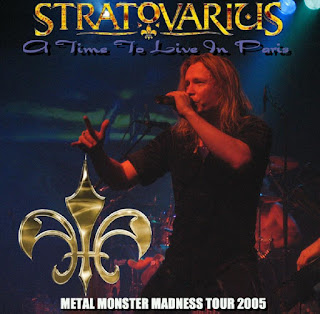 "Cover d'un CD pirate du concert de Paris de Stratovarius, dans le cadre du ""Metal Monster Madness Tour 2005"""