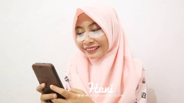 Cara penggunaan Lanore Whitening Hydrogel Eye Patch