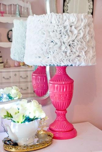 Diy Ruffle Lamp Shades Vintage Romance Style